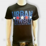 Urban Cowboy Black with Blue Stars