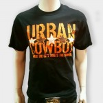 Urban Cowboy Black with Orange Stars