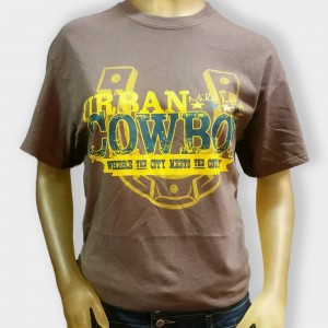Urban Cowboy Brown with Yellow Horseshoe