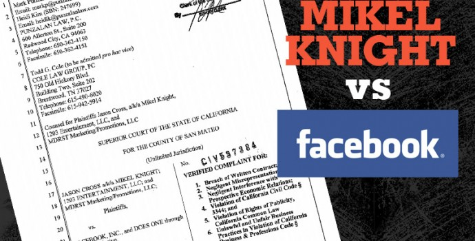 MIKEL KNIGHT SUES FACEBOOK